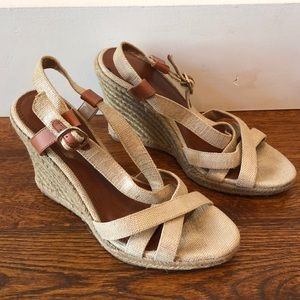 Shimmery espadrille sandals